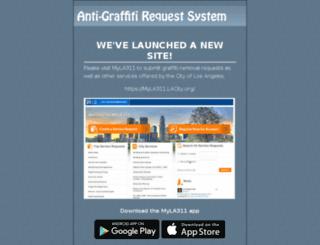 anti-graffiti.lacity.org screenshot