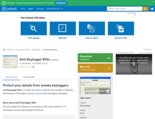 anti-keylogger-elite.en.softonic.com screenshot