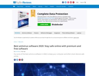 anti-virus-software-review.toptenreviews.com screenshot