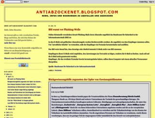 antiabzockenet.blogspot.com screenshot