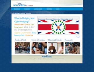 antibullying.novascotia.ca screenshot