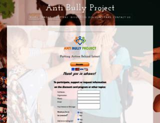 antibullyproject.com screenshot