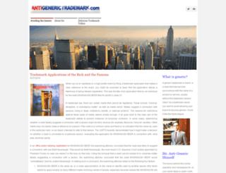 antigenerictrademark.com screenshot
