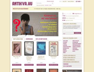 antikva.hu screenshot