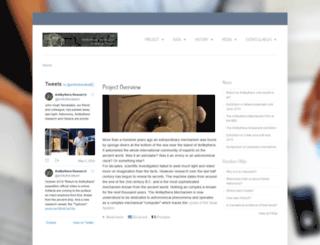 antikythera-mechanism.net screenshot