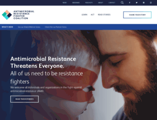 antimicrobialresistancefighters.org screenshot