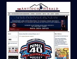antiochherald.com screenshot