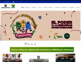 antioquia.gov.co screenshot