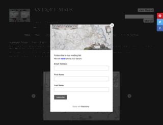 antique-maps-online.co.uk screenshot