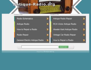 antique-radio.org screenshot