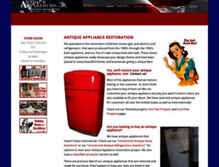 antiqueappliances.com screenshot