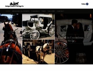antiquecoach-carriage.com screenshot