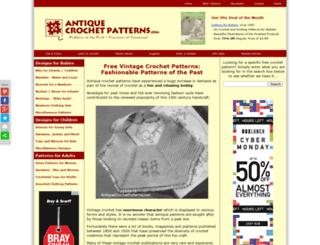 antiquecrochetpatterns.com screenshot