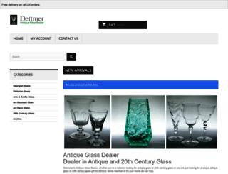 antiqueglassdealer.com screenshot