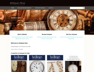 antiques-now.co.uk screenshot