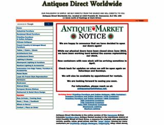 antiquesdirect.ca screenshot