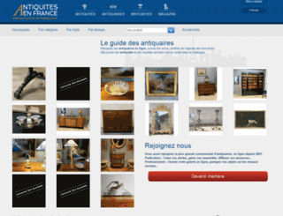 antiquites-en-france.com screenshot