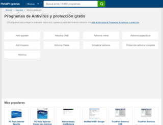 antivirus-proteccion.portalprogramas.com screenshot