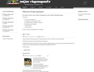 antjes-flugzeugseite.de screenshot