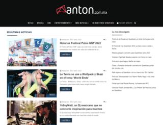 anton.com.mx screenshot