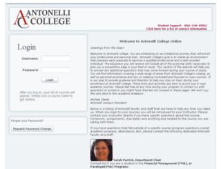 antonellicollegeonline.com screenshot