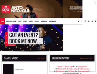 antoneosoul.com screenshot