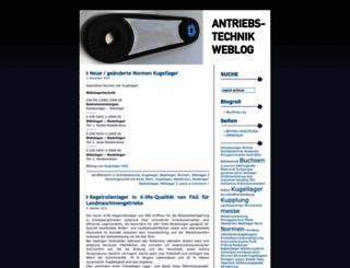 antriebstechnik.wordpress.com screenshot