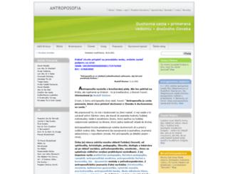 antroposof.sk screenshot