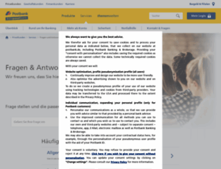 antworten.postbank.de screenshot