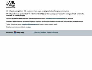 anucollege.edu.au screenshot