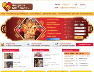anugrahamatrimony.in screenshot
