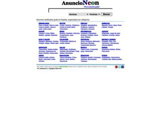 anuncioneon.com screenshot
