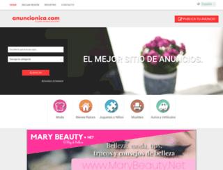 anuncionica.com screenshot