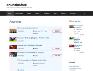 anunciosfree.org screenshot