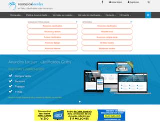 anuncioslocales.com.pe screenshot