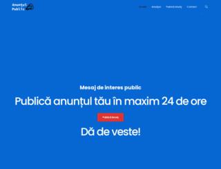 anuntulpublic.ro screenshot