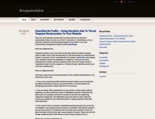anupamaojha.wordpress.com screenshot