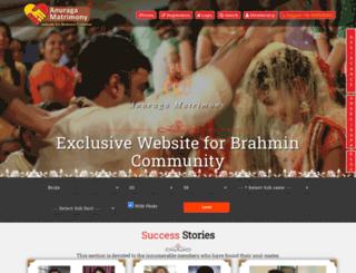 anuragamatrimony.com screenshot