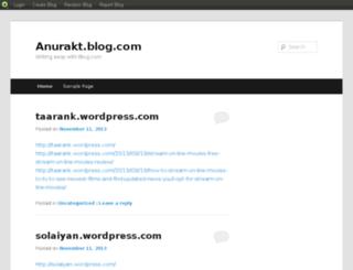 anurakt.blog.com screenshot