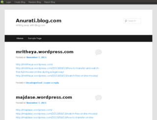 anurati.blog.com screenshot