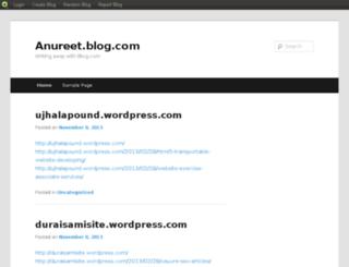 anureet.blog.com screenshot