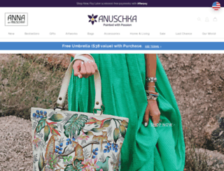 anuschkaleather.com screenshot
