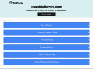 anushiaflower.com screenshot