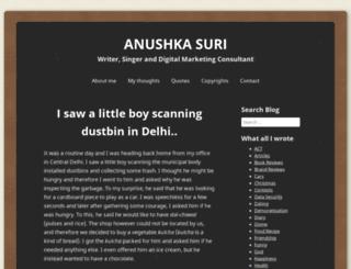 anushkasuri.wordpress.com screenshot