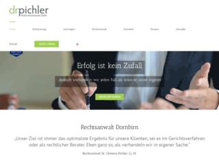 anwaltskanzlei-pichler.at screenshot
