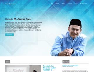 anwarsani.com screenshot