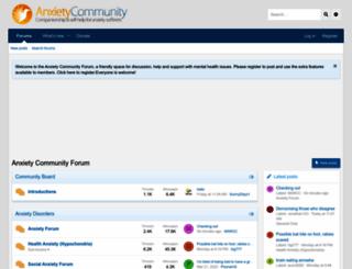 anxietycommunity.com screenshot
