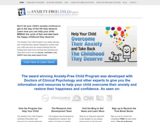 anxietyfreechild.com screenshot