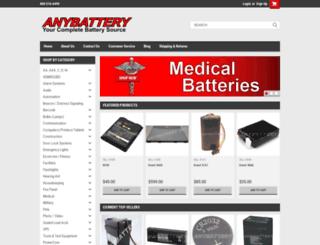 anybattery.mybigcommerce.com screenshot