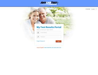 anylabportal.com screenshot